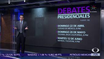 Consejo General del INE aprueba debates entre candidatos a la Presidencia