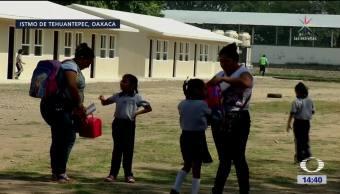 Niños en Oaxaca regresan a clases