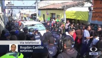 Vecinos impiden traslado de presunto ladrón al Ministerio Público