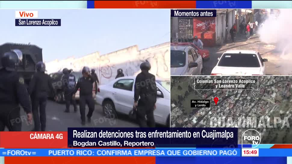 Realizan detenciones tras enfrentamiento en Cuajimalpa