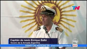 Confirman explosión en zona del submarino argentino