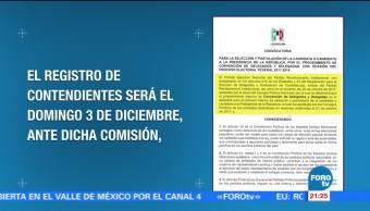 PRI anuncia convocatoria para elegir a su candidato presidencial