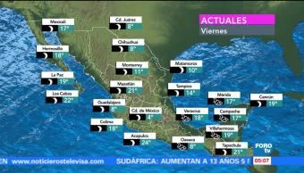 Continúan las bajas temperaturas en gran parte del país