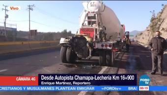 Caos vial por accidente de tráileres en la Chamapa- Lechería