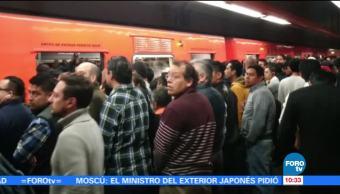 Línea 7 del Metro CDMX presenta afluencia de pasajeros