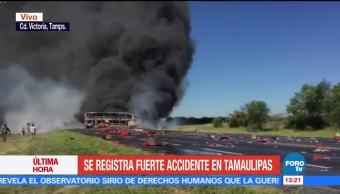 Choca pipa y autobús en Ciudad Victoria, Tamaulipas