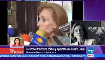 Rosario Green Impulsó Mujeres Servicio Exterior Mexicano Senadora