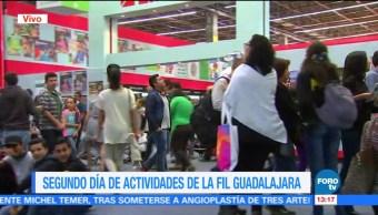 Segundo día de actividades de la FIL Guadalajara