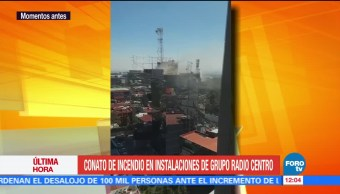 Conato de incendio en instalaciones de Grupo Radio Centro