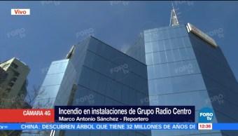 Controlan incendio en Grupo Radio Centro