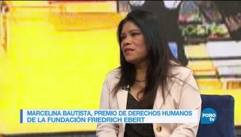 Genaro Lozano entrevista a Marcelina Bautista