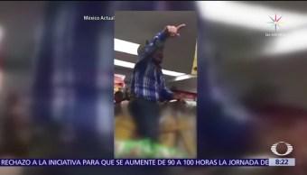 Hombre entra montado a caballo a tienda de conveniencia en Acapulco