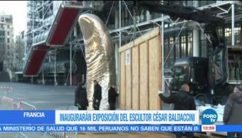 Instalan escultura monumental de 6 metros de alto en el Centro Pompidou