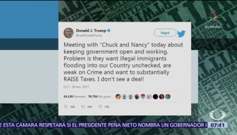 Trump arremete contra demócratas en Twitter, en respuesta lo dejan plantado
