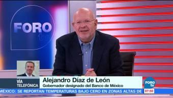 Alejandro Díaz de León: Tasa de inflación podría reducirse el próximo año