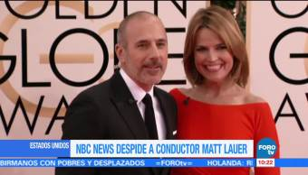 Matt Lauer es despedido de NBC por conducta sexual inapropiada