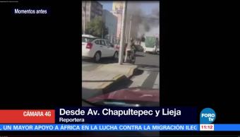 Sofocan incendio cerca del Metro Chapultepec, en la CDMX