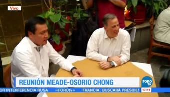 Meade y Osorio Chong se reúnen en un restaurante