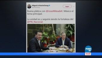 Osorio Chong habla sobre la reunión con Meade