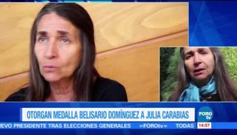 Galardonan a Julia Carabias con la Medalla Belisario Domínguez
