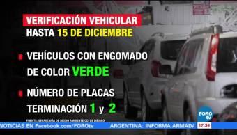 Amplían periodo de verificación de autos con engomado verde