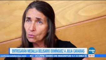 Senado otorgará la medalla 'Belisario Domínguez' a Julia Carabias