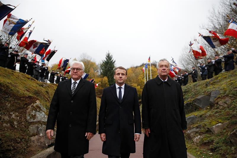 Europeos recuerdan a los caídos en las grandes guerras