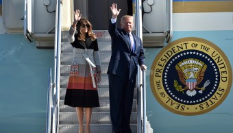 Donald Trump llega a Japón para iniciar su gira asiática