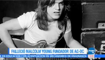 Ac/Dc Anuncia Muerte Malcolm Young Grupo De Rock