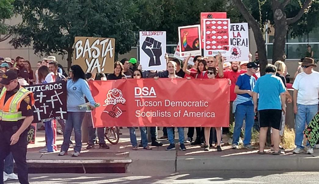 Activistas protestaron programa que criminaliza indocumentados Estados Unidos