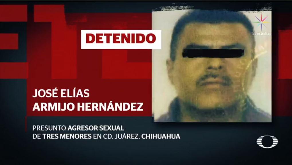 Detienen a presunto violador de tres niñas en Chihuahua