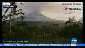Alerta Roja Ceniza Volcánica Indonesia Monte Agung