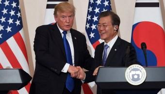 trump rechaza debatir control armas corea