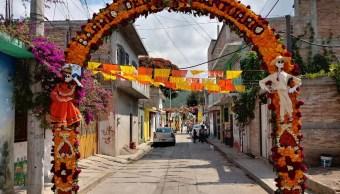 Los arcos de Tixtla, en honor a fieles difuntos