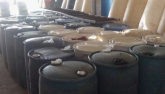 Aseguran 7 mil litros de combustible en Michoacán