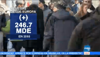 Aumentan Remesas Migrantes Europa Mexicanos Unión Europea