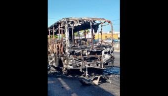 Se incendia autobús de pasajeros en Veracruz