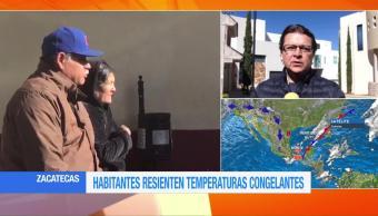 Capital de Zacatecas registra temperatura de 2 grados bajo cero
