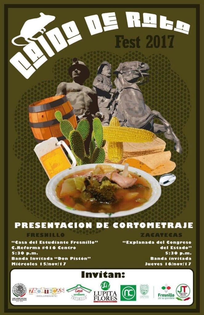 Cartel oficial del Caldo de Rata Fest 2017 en Zacatecas