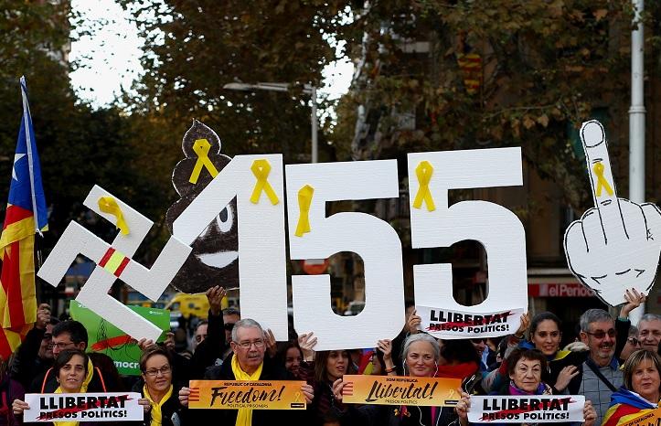 José Luis Rivas Rangel (luis.rivas@televisatim.com) Multitudinaria marcha en Barcelona para exigir liberación de políticos catalanes