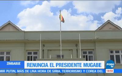 Celebran renuncia de Robert Mugabe