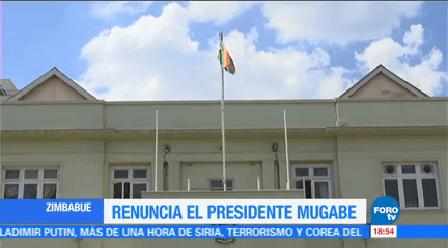 Celebran Renuncia Robert Mugabe Miles Personas