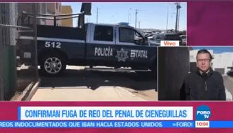 Confirman Fuga Reo Penal Cieneguillas Zacatecas
