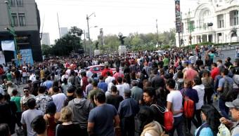 Tarde de lunes en el Centro Histórico de la Ciudad de México