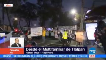 Damnificados Multifamiliar Tlalpan Bloquean Tránsito