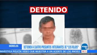 Detienen 4 Presuntos Integrantes Rojos Morelos