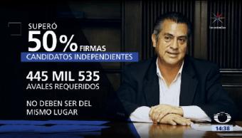 Bronco Obtiene 50% Firmas Gobernador Nuevo León Jaime Rodríguez Calderón