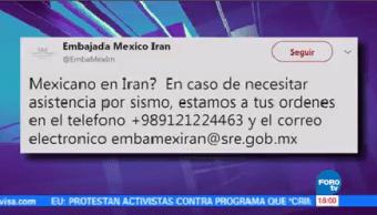 Embajadas Mexicanas Emiratos Árabes Irán Activan Teléfono Sismo
