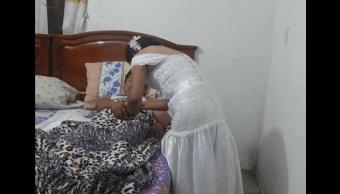 vestido novia, interrumpe boda, enfermera, paciente