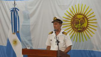 Enrique Balbi, portavoz de la Armada argentina